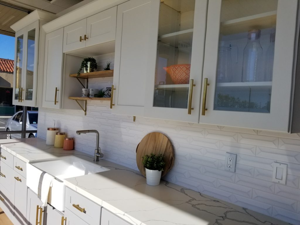 Our Two Tone White and Grey Kitchen Display